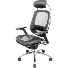 @Overstock - AtTheOffice One Series Black Mesh High Back Executive Chair - An executive chair that sits as good as it looks, this highly ergonomic chair has every available adjustment to tailor the fit for optimal support. Created by an internationally acclaimed designer with sculptural lines, this is truly a stand-out chair.  http://www.overstock.com/Office-Supplies/AtTheOffice-One-Series-Black-Mesh-High-Back-Executive-Chair/9332666/product.html?CID=214117 $615.00