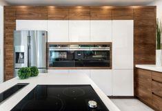 Open Plan Kitchen Living Room, Condo Kitchen, Kitchen And Bath Design, Modern Kitchen Design, Home Decor Kitchen, Kitchen Interior, Home Kitchens, Kitchen Remodel, Best Kitchen Cabinets