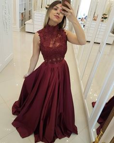 Maroon prom dress long - Burgundy Lace Prom Dress, Sexy A Line Prom Party Dresses, Women Party Gowns , Plus Size Formal Evening Dresses – Maroon prom dress long Grad Dresses Short, A Line Prom Dresses, Long Wedding Dresses, Formal Evening Dresses, Dress Prom, Dress Formal, Lace Wedding, Floor Length Dresses, Short Prom