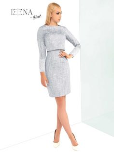 Next hit dress white and blue