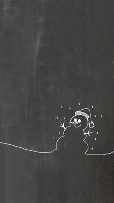 Update your iPhone and iPad with this adorable chalkboard winter snowman wallpaper. Free and easy.