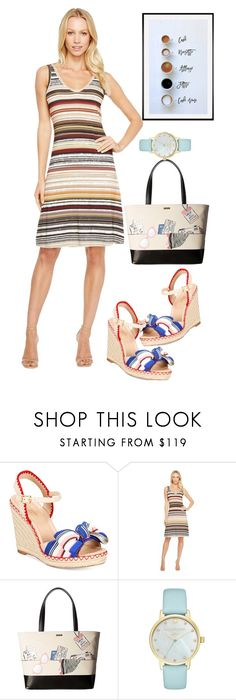 """dress"" by masayuki4499 ❤ liked on Polyvore featuring Kate Spade, Karen Kane and Pottery Barn"