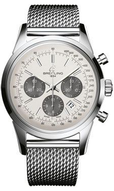 Breitling Watches - Transocean 01 Chronograph Stainless Steel