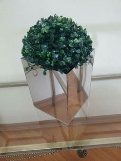 Feito com espelhos simples de $1,00