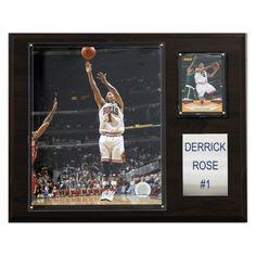 NBA 12 x 15 in. Derrick Rose Chicago Bulls Player Plaque - 1215DROSE