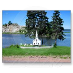 Get your hands on a customizable Canada postcard from Zazzle. Find a large selection of sizes and shapes for your postcard needs! Discover Canada, Cape Breton, Canada Travel, Nova Scotia, Memories, Island, Mansions, House Styles, Poster