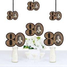 Adult Birthday - Gold - Decorations DIY Party Essentials - Set of 20 80th Birthday Decorations, 90th Birthday Parties, Birthday Party Centerpieces, Adult Birthday Party, Birthday Crafts, Birthday Ideas, Birthday Nails, Happy Birthday, Gold Diy