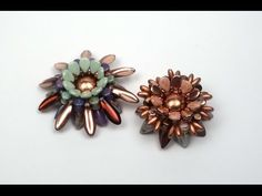 No word tute for 2-hole bead flowers  ~ Seed Bead Tutorials