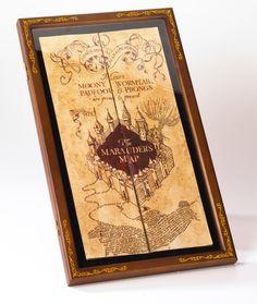 Marauder's Map Display Case