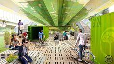 Renzo Piano transforma viaduto com materiais reciclados