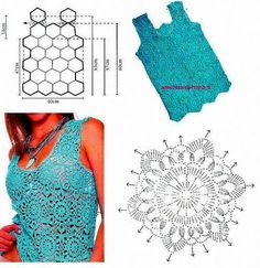 Crochet tank top with graph