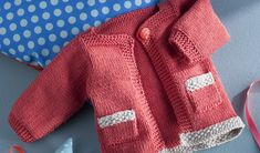 DIY gilet bébé en tricot - jardinerie Truffaut conseils Mercerie Truffaut
