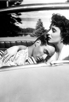 """Elizabeth Taylor and Montgomery Clift in """"A Place in the Sun"""""""