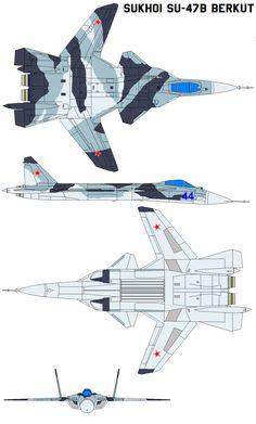 Sukhoi Su-47B Berkut by bagera3005 on DeviantArt