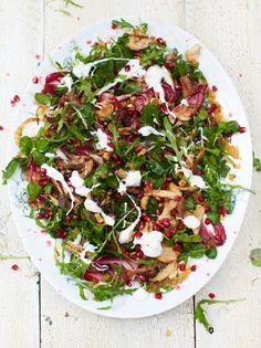 Turkey salad & warm clementine dressing - Christmas/boxing day recipe