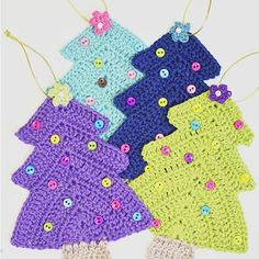It's getting closer and closer. Yes, Christmas is like right around the corner. It's time to decorate the Christmas tree. I'm using these cute little crochet Christmas tree…