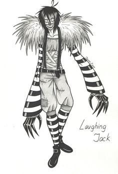 Laughing Jack Drawings Sketch Coloring Page