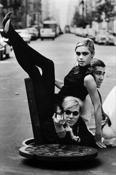 친구들... Sedgwick, Wein, and Warhol.