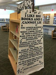 I LIKE BIG BOOKS AND I CANNOT LIE - How awesome is this! Compliments of this display at the Joint-Use Library at Virginia Beach Public Library! [photo credit: Virginia Beach Public Library]