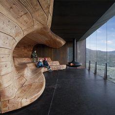 Tverrfjellhytta – Snøhetta Love the organic wooden structure