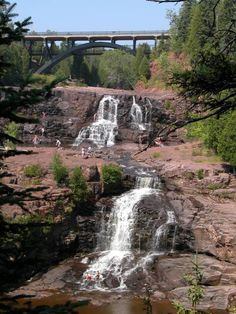 This is an awesome place to visit.  A lot of steps down to the bottom but worth it.  Gooseberry Falls, MN
