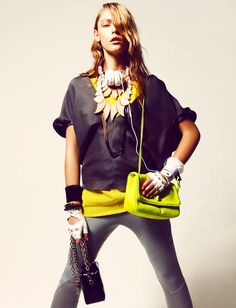 sports luxe ☆ Lucia Jonova by Danilo Giuliani for Grazia Germany March 2012