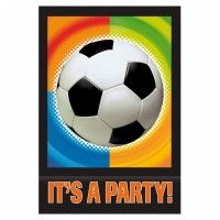 Invitaciones para una fiesta de fútbol