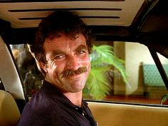 "Tom's weekly smirk into the camera that he did for many seasons on the TV show ""Magnum, P.I."". I used to look forward to this moment on every episode because you never knew when it was coming."