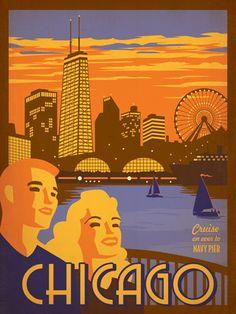 Affiches touristiques vintages des USA affiche poster vintage usa ville 11 design bonus