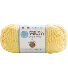 Martha Stewart Crafts Extra Soft Wool Blend Yarn - Buttermilk