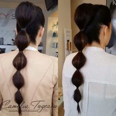 Pony tail Ponytail, Pearl Earrings, Hair, Beauty, Fashion, Moda, Pearl Studs, Fashion Styles, Pony Tails