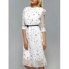 SHARE & Get it FREE | Star Pattern Belted DressFor Fashion Lovers only:80,000+ Items • FREE SHIPPING Join Twinkledeals: Get YOUR $50 NOW!