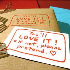 Handmade Joke Gift Wrapping Paper - wedding stationery