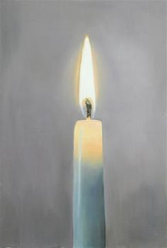 """Daily Paintworks - """"Light a Candle"""" - Original Fine Art for Sale - © James Coates"""