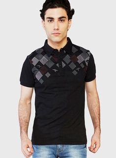 globus black polo t-shirt Black Polo T Shirt, Polo Shirt Style, Mens Polo T Shirts, T Shart, Collar Designs, Fashion Marketing, Men Design, Formal Shirts, Summer Tshirts