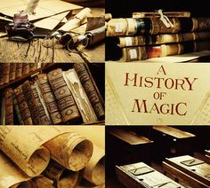 Hogwarts Courses: History of Magic Harry Potter Aesthetic, Harry Potter Hogwarts, A History Of Magic, Hogwarts Classes, Alicia Clark, No Muggles, Harry And Ginny, Mischief Managed, Book Nerd