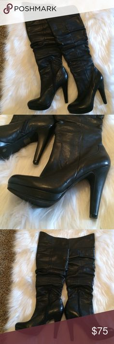 Jessica Simpson Over the Knee Boots 8.5 B Worn once excellent condition Jessica Simpson Shoes Over the Knee Boots