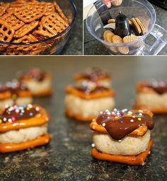 Peanut Butter Cheesecake Pretzel Bites