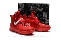 new styles 880d7 c0438 Zapatillas baloncesto baratas SG Nike rojo Lebron James 14 XIV hombre Lebron  James, Netball,