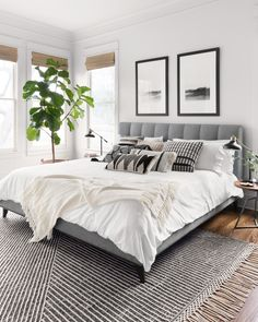 Home Interior Design Newton Charcoal/Ivory Area Rug - Magnolia Home by Joanna Gaines.Home Interior Design Newton Charcoal/Ivory Area Rug - Magnolia Home by Joanna Gaines Room Ideas Bedroom, Home Decor Bedroom, Bed Room, Bedroom Rugs, Ivory Bedroom, Adult Bedroom Ideas, Master Bedroom Decorating Ideas, Small Bedroom Ideas For Couples, Bedroom Interior Design