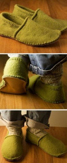 Sweater Slippers DIY The Cutest Projects