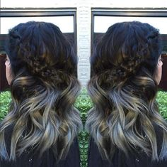 Ash Fortis used #KenraColor SV Rapid Toner on level 10 hair for 15 minutes to create this stunning silver! #SilverHair #Braids