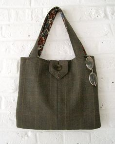 Handmade Recycled Tweed Bag by MadeinW6 on Etsy