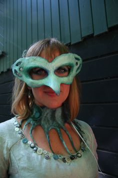 mask. paper mache. by Amber de Wolf.