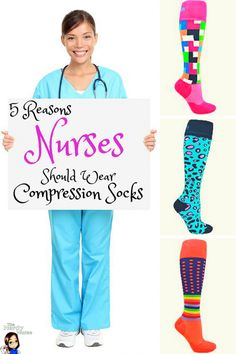 Nurses work long hours and leg pain is just a part of it right? Compression socks can banish sore legs and look AWESOME too! Share this with every nurse you know! 5 Reasons Why Every Nurse Should Wear Compression Socks Nursing Career, Nursing Tips, Nursing Notes, Nursing Scrubs, Vet Scrubs, Nursing Uniforms, Nursing Graduation, Medical Scrubs, Achy Legs