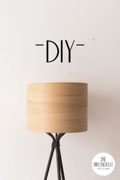 DIY abat jour bois