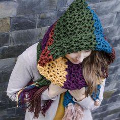 crochet scarf with hood