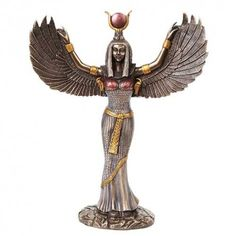 ISIS IS A DEMON LEADER Wings Spread in a Protective Pose, the Egyptian Mother Goddess Isis is shown here in full flower, crowned and expanded. Description from goddessgift.net. I searched for this on bing.com/images