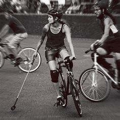 Bike polo and Bicycles Love Girls. http://bicycleslovegirls.tumblr.com