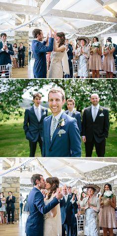A Rustic barn wedding in Yorkshire felicia by Amanda Wyatt dress 0015